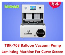 Wholesale TBK Professional Curve Phone LCD Screen Balloon Vacuum Pump Laminating Repair Machine With Remove Bubble Cans V V DHL Free