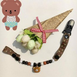 Cartoon Bell Chain Pacifier Letter Clips For Baby Pacifier Clip On Nipple BPA Free Plastic Beads Dummy Chain Pacifier Holder