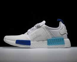 Wholesale NMD Runner White Shoes Branded Womens and Mens Running Shoes Breathable Basketball Shoe Sneakers Athletic Outdoor Shoes with Retail Box