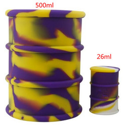 Full colors non-stick oil barrel 500ml drum heat freeze resistant silicone oil barrel jar drum ,100% food grade silicone oil