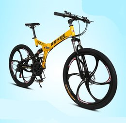 Wholesale 10pcs   lot 26 inch fashion folding bicycle,Full Suspension 21 speed aluminum alloy frame folding mountain bike