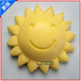 Wholesale Sun smile face silicone soap mold form for soap Clay mold Salt carving mould DIY