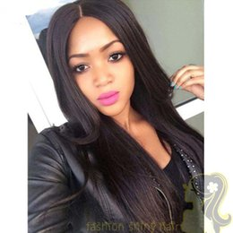 Peruvian Human Hair Wigs Straight Lace Front Wigs Italian Glueless Full Lace Wigs Bleached Knots for women black