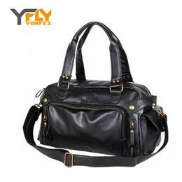 Wholesale Y FLY Brand News Hot Big Bag Top Handle Men Handbags High Quality PU Leather Male Shoulder Crossbody Bag Travel Bags HC277