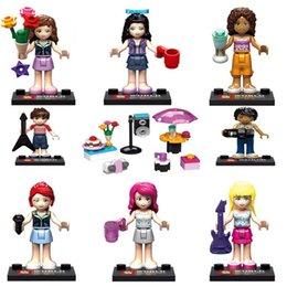 Wholesale New Princess Girls Friends Music Party Building Blocks Minifigures Gift Bricks Toys for children christmas gifts