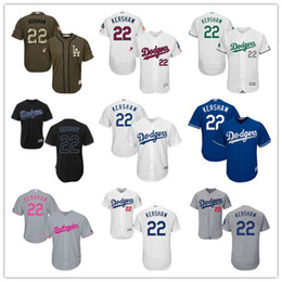 Wholesale 2016 LA Dodgers Clayton Kershaw Black Gray Blue White Celtic Majestic Los Angeles Dodgers MLB Baseball Jerseys