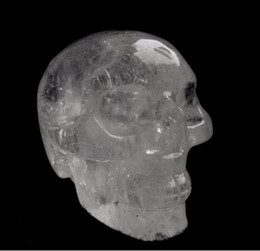 Wholesale 2 quot Quartz Rock Crystal Carved Realistic Crystal Skull Reiki Crystal Healing Statue