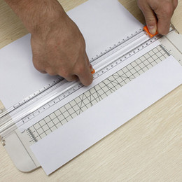 Wholesale Best Price New White A4 Plastic Cutter Guillotine Alignment Ruler Daily Typical Paper Label Cutter Trimmer