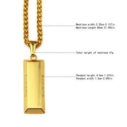 Wholesale Mens Geometric Necklaces k Gold Plated Fashion Personalized Design Hip Hop Jewelry Long CM Chains Punk Rock Micro Men Pendant Necklace
