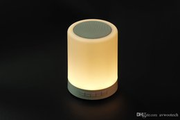 Wholesale Touch lamp Speaker Growstar Portable Smart Night Light Bluetooth Speaker RGB lights mode and Light Modes Night Lamp Suport TF Card