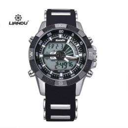 Compra Online Relojes de los hombres titular-Los hombres deportes al aire libre de cuarzo reloj digital de pulsera de silicona militares Relogio Masculino Liandu Marca Relojes B220 titular de reloj barato