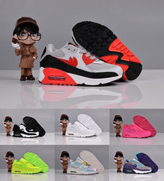 Wholesale 2016 New Cheap Children s Max Running Shoes Lightweight Pink White Navy etc Kids Youth Athletic Maxes Shoe Size