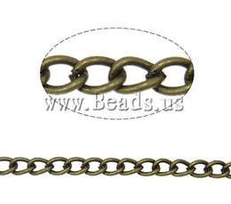 Wholesale Iron Twist Oval Chain Gothic antique bronze color plated nickel lead cadmium free x5x0 mm