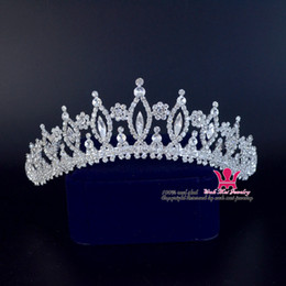 Wholesale Star Tiara Wholesale - Fashion Rhinestone Bridal Wedding Tiara Crown Classic Style Princess Royal Hair Accessories Headband For Party And Show Jewelry 00161