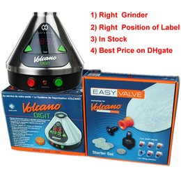 Wholesale Volcano Digital Vaporizer Storz Bickel w with Free Right Santa Cruz Grinder Easy Valve Starter Right Position Of Label