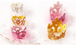 Top Quality 20pcs lot Baby Girls Felt Barrettes Tiara Side Hair Clip Princess Crown with Glitter Tulle Gold Silver Hair Clip