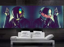 Daft Punk dj Robots Poster print wall art 8 parts giant huge Poster print art free shipping NO4-179