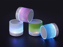 Wholesale Colorful LED lights Mini wireless Bluetooth portable speakers Insert TF card the radio for With call function Promotion gift