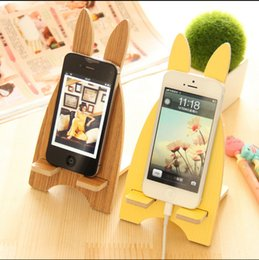 Wholesale Universal Wooden Mobile Phone Stand Bracket Holder Mount Cover For iPhone Stand Cover For Samsung Note