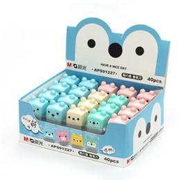 Niños mini lápiz en venta-Venta al por mayor de las PC-1 MG Mini caramelo Standard School de dibujos animados lindo de Kawaii Fuentes coloreadas sacapuntas para los artículos de papelería muchachas de los cabritos