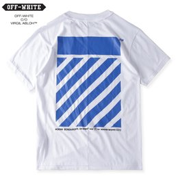 TOP Quality Pyrex C O Virgil Abloh OFF WHITE and VLONE T Shirt Men Women 100% Cotton Short Sleeve Kanye Hip Hop Blue Striped Tee Palace