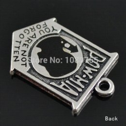 Wholesale 100Pcs A Antique Silver Pow Mia Pendent Charms For Jewelry Making charm fire silver watch