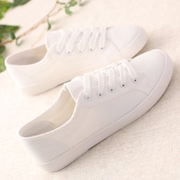 Wholesale Lowest Price for solid color white shoe canvas shoes sell like hot cakes Female spring show feet thin art van leisure women s shoes