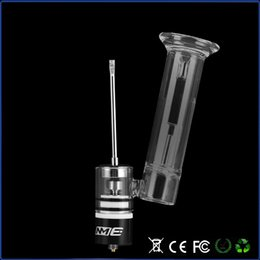 Wholesale E rig dabber wax dry herb attachment vaporizer tank thread box mod burning device glass pipe metal chamber starter kit