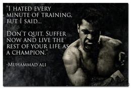 Wholesale 2016 Don t Quit Muhammad Ali Motivational Inspirational Quotes Art Silk Fabric Poster Print x36 quot