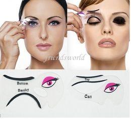 Hot selling Cat Eyeliner Stencil Makeup Eyeliner Stencils Models Card Makeup Tools Eyebrow Stencils Free Shipping