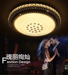 Wholesale LED Ceiling Lambs Round Down light Indoor Ceiling lights fixture For Livingroom Bedroom Bathroom Modern with Crysta Design w w w