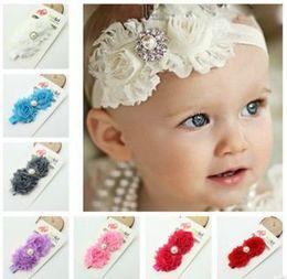 Children's hair accessories Headbands baby flowers woven cross hair band headbands cotton elastic cloth baby Hair Sticks