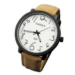 Wholesale YAZOLE Men s top luxury brand quartz watch fashion casual big black box boy table