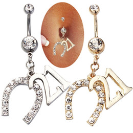 Wholesale Attractive Body Jewelry Dangle Belly Button Rings Body Piercing Gold Sexy Navel Rings New Arrival Body Piercing