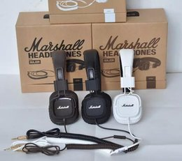Marshall Major headphones With Mic Deep Bass DJ Hi-Fi Headphone HiFi Headset Professional DJ Monitor Headphone with retail package DHL FREE
