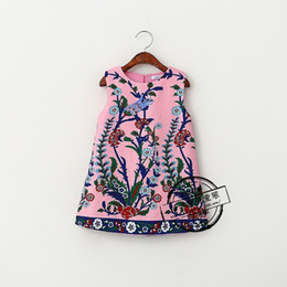Wholesale Kids Dresses for Girls Baby Tank Dress Floral Print Dress Kids Autumn Winter Children Clothing vestidos infantil