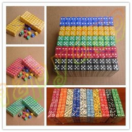 Wholesale Opaque Poker Chips dice mm Six Sided Spot Fun Board game Dice D D RPG Games Party Dice Gambling Game Dices