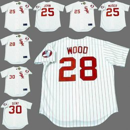 Wholesale Men TOMMY JOHN TONY MUSER WILBUR WOOD BUCKY DENT Chicago White Sox s Majestic Cooperstown Baseball Jersey stitched