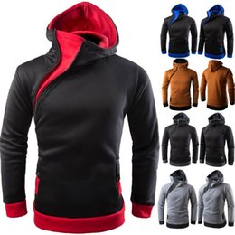 2017 American men 9a11c Hoodie sleeve head men oblique zipper Hoodie multiple colors Coat Long Sleeved fashion men's wear boy clothing