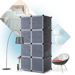 Wholesale IKAYAA Fashion Multi use Clothes Closet Wardrobe Cabinet DIY Cloth Shoes Storage Organizer H16865