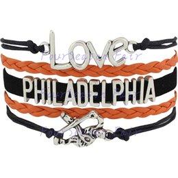 Custom-Infinity Love National Hockey League Philadelphia Flyers Bracelet Ice Hockey Player Fans Adjustable Bracelet Bangles-Drop Shipping