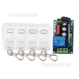 AC220V 1CH 10A Radio Wireless Remote Control Learning Code Switch With 4pcs Waterproof White Transmitter Output Adjusted