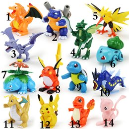 Wholesale 15 Design Poke pikachu Action Figure building blocks blocks intelligence educational toys Birthday gifts with gift box E1545