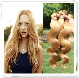 "Brazilian Virgin Hair Peruvian Indian Body Wave 27#Color Blonde Human Hair Weave 3pcs lot Length 10""-26' inch Hair"