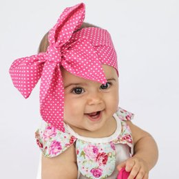 Baby printing Flower Cloth Headbands Kids hair ribbon bowknot Headbands Hair bows girls toddler turban hair bands Children Hair Accessories