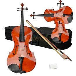 Wholesale New Student Adults quot Acoustic Viola Case Bow Rosin Wood Color
