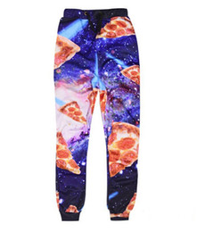 Wholesale-new fashion pizza space 3D sweatpants joggers both side printing 3d jogging pants harajuku casual sports trousers