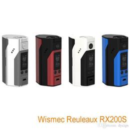 Wholesale Authenic new Wismec Reuleaux RX200S w vape mods Temp Control box mod kits with colors fit Replaceable cells update rx200 mod