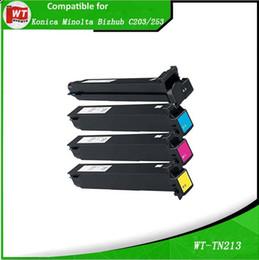 Wholesale Minolta TN213 Compatible Toner Cartridge for Minolta Bizhub C203 TN BK C M Y BK C M Y pages