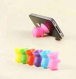 Wholesale Cute Pig Silicone Cell Phone Holder Creative Sucker Cellphone Stand Silica Gel Bracket Universal Desk Stent for iPhone Samsung Best Gifts